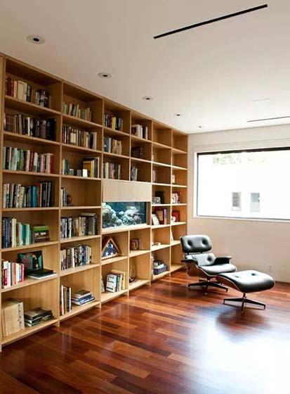 客厅书架墙装修实景图