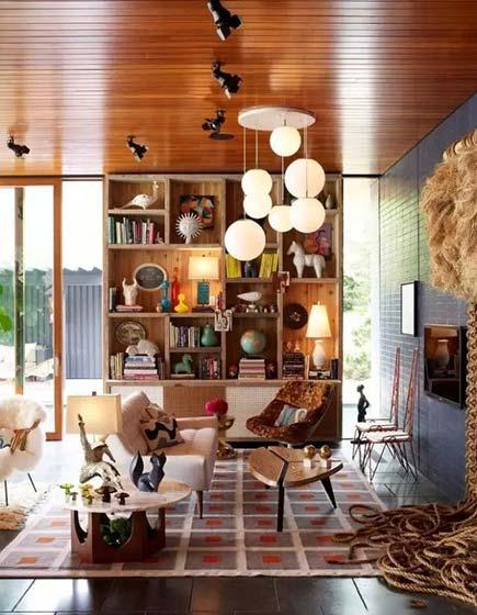 客厅书架墙设计平面图