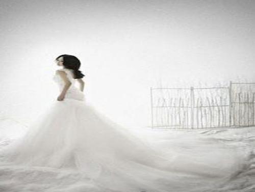 婚纱照图片唯美背影大全 纯美的婚纱背影
