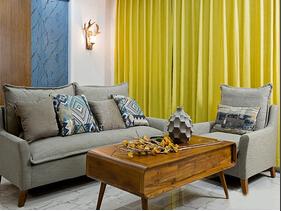 90平简约三居室装修 亮丽温馨的空间