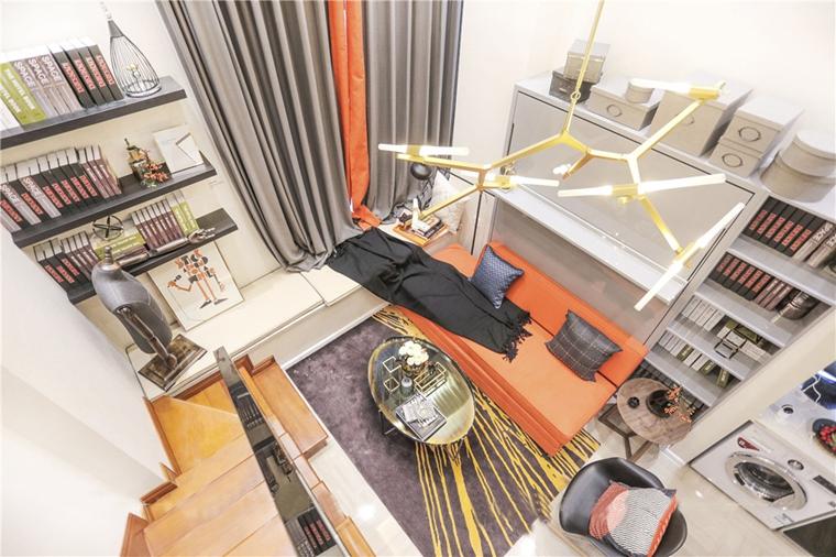 40平loft装修客厅效果图