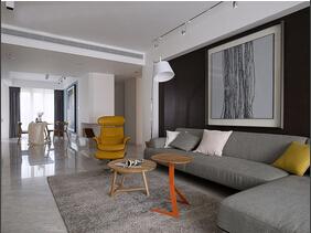 现代简约风格三居室 经典演绎黑白灰