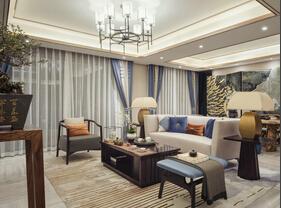 110平新中式风格三居室 韵味美家