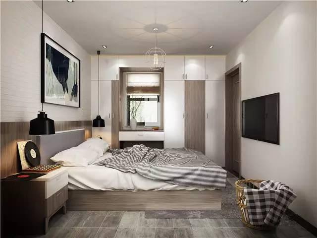 北欧卧室装修效果图 简约感卧室搭配装修图片