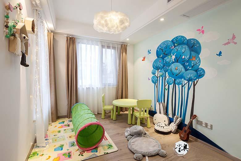 北欧风复式儿童房效果图