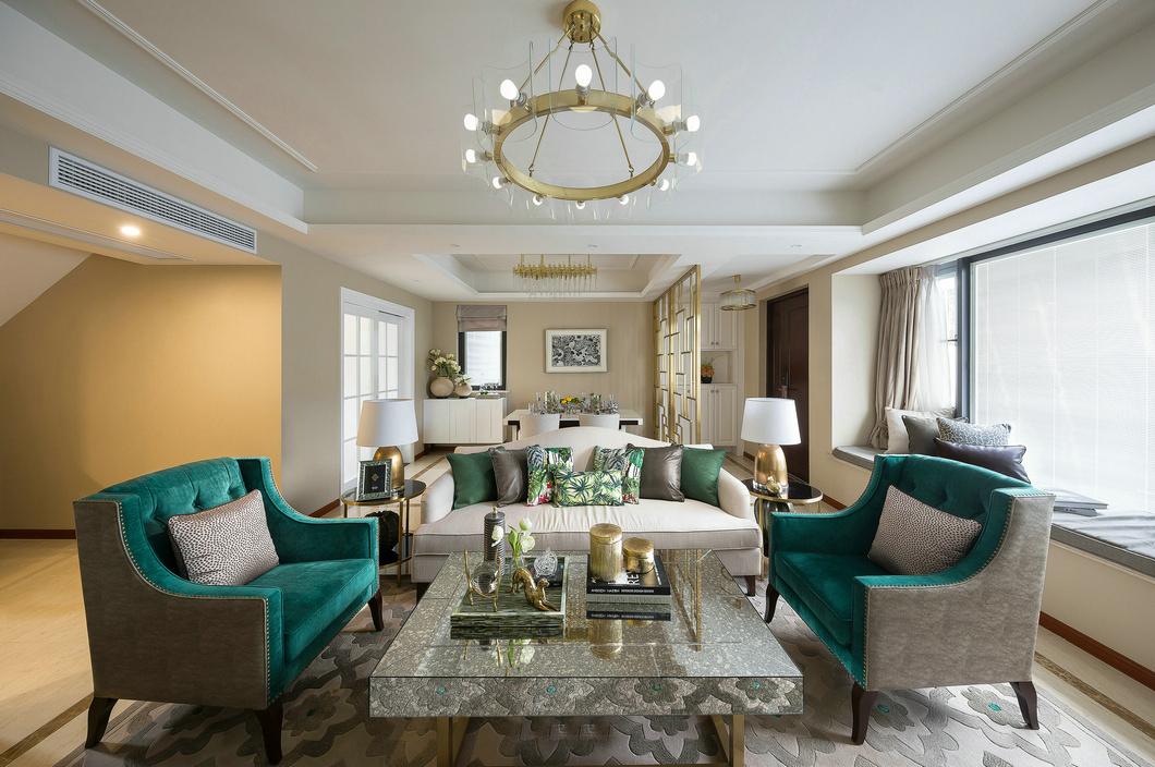 法式风格别墅装修样板间客厅效果图