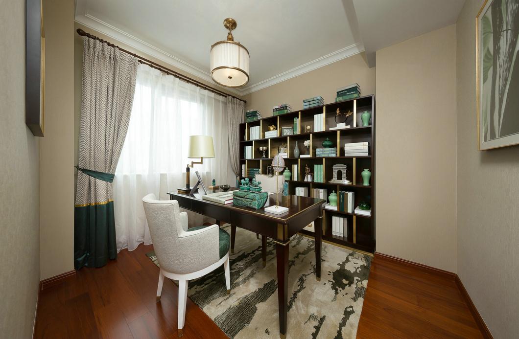 法式风格别墅装修样板间书房效果图