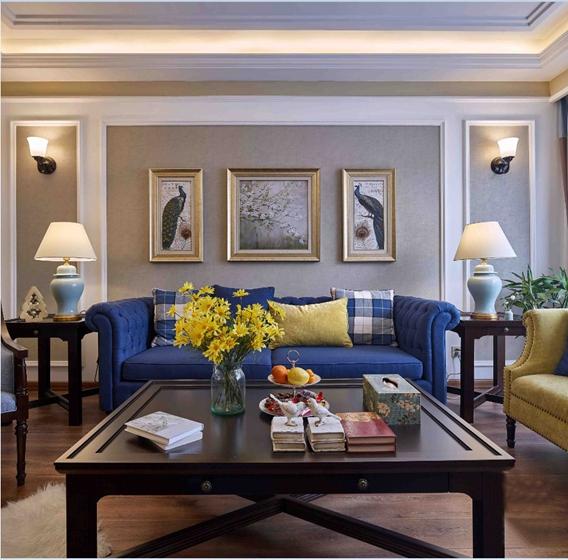 法式风格装修效果图法式客厅图片