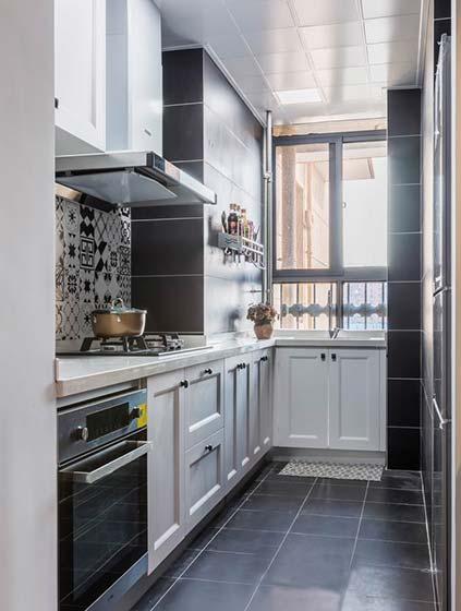 混搭风两居室厨房装修图