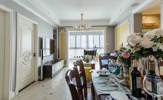 90平混搭风格两居室装修效果图餐厅效果图