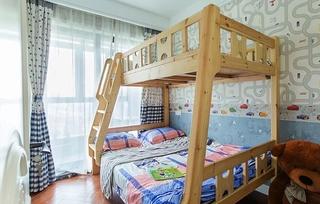 90平混搭风格两居室装修效果图儿童房效果图