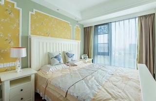 90平混搭风格两居室装修效果图卧室效果图