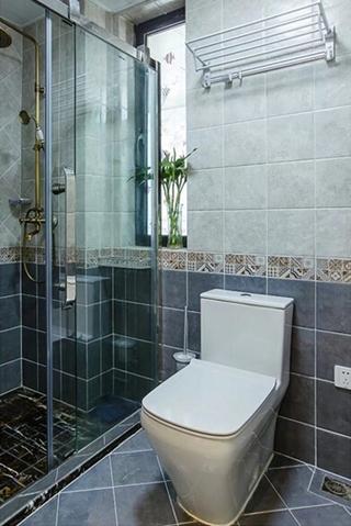 90平混搭风格两居室装修效果图卫生间图片