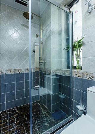 90平混搭风格两居室装修效果图淋浴房图片