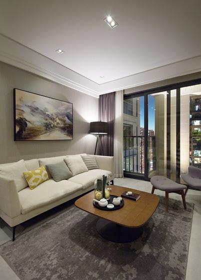 90平简约风格装修效果图客厅沙发图片