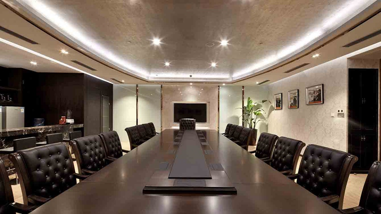 豪华办公室装修效果图会议室图片