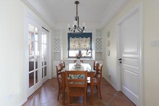 110平美式风格三居室餐厅效果图