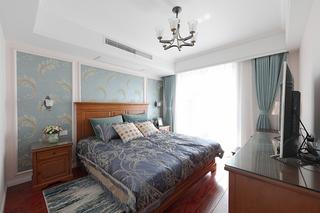 110平美式风格三居室卧室效果图
