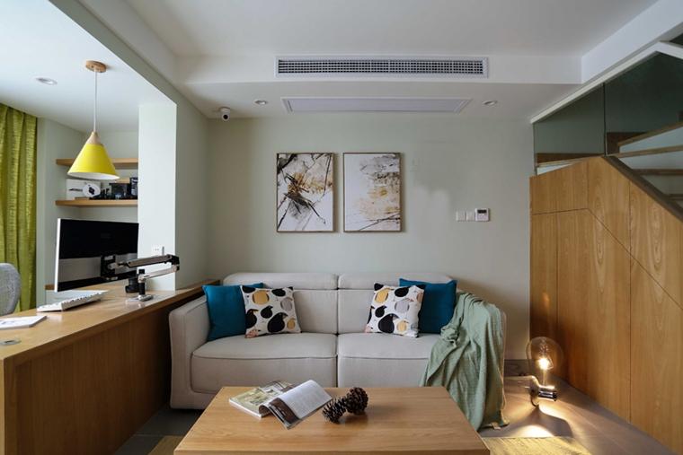 95平日式风格装修小客厅效果图