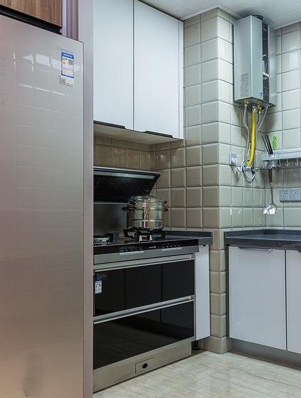 单身公寓现代简约风格装修厨房效果图