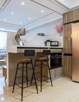 单身公寓现代简约风格装修吧台效果图