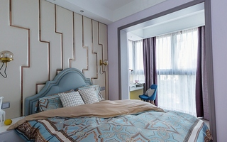 单身公寓现代简约风格装修次卧装修图