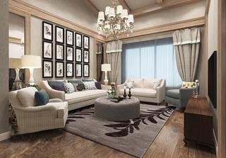 简欧风格小复式装修客厅效果图
