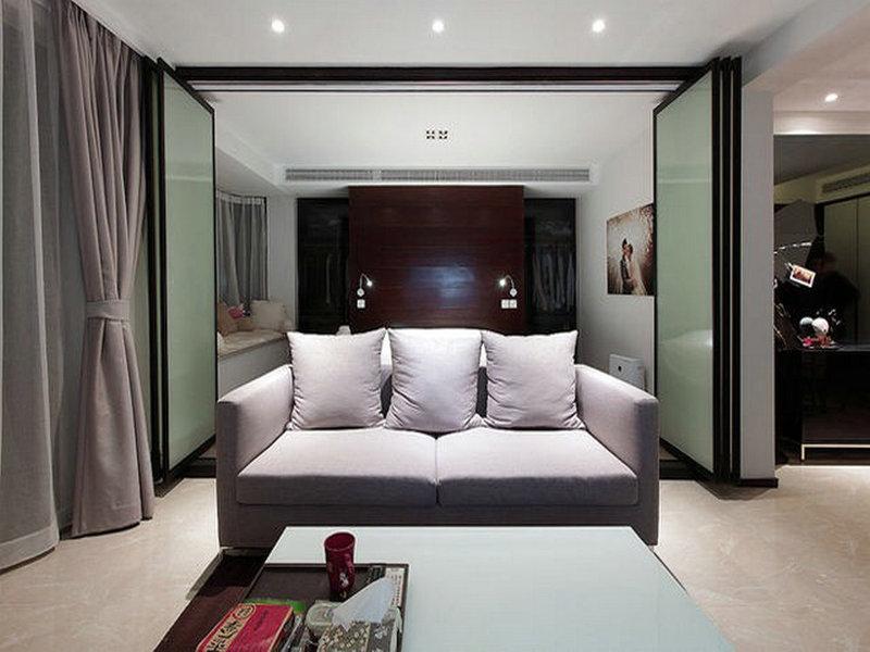 90平米简约二居室装修效果图,简而不失其华,约不显其涩装修案例效果图 齐家装修网