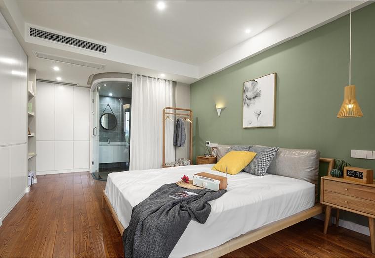 130平北欧风格装修卧室效果图