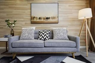 70平米简约风格装修客厅背景墙图片