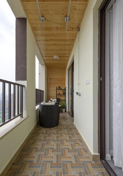 70平米简约风格装修阳台效果图