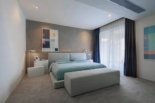 极简风格大户型装修卧室效果图