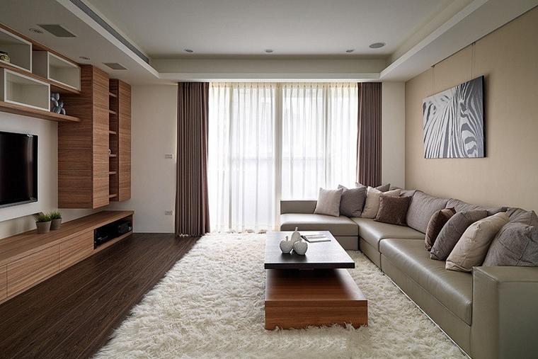 两室两厅简约风格装修客厅效果图