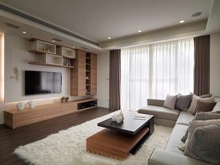 两室两厅简约风格装修电视柜图片