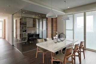 两室两厅简约风格装修餐厅效果图