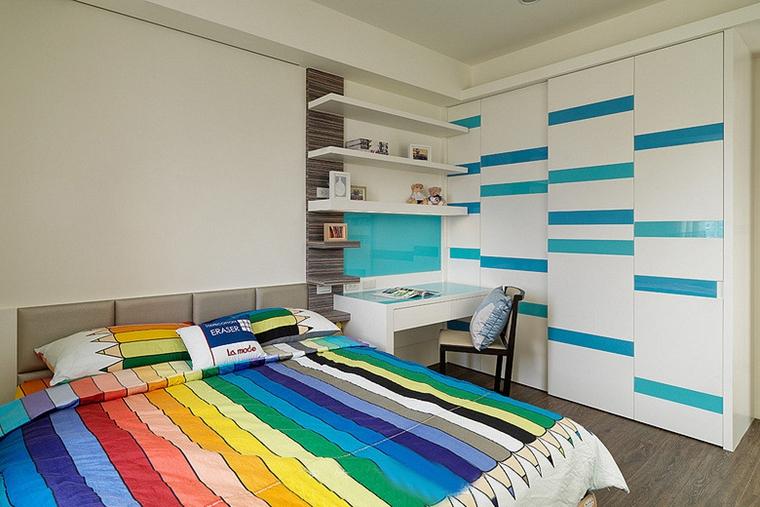 两室两厅简约风格装修男孩房图片