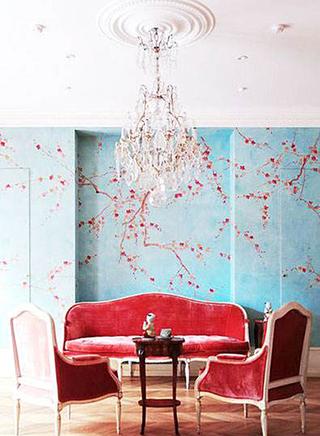壁纸背景墙装修欣赏图