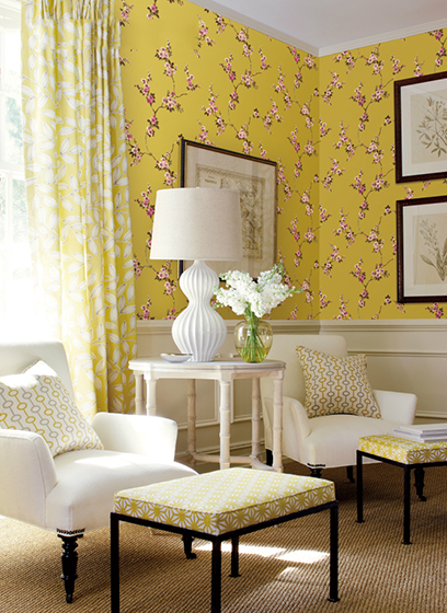 壁纸背景墙设计装饰图