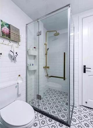 小户型卫生间玻璃隔断图片