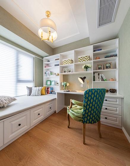 15万半包美式风格两居室书房效果图