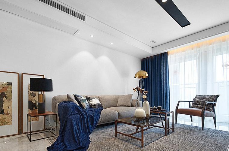 现代简约三居室客厅效果图