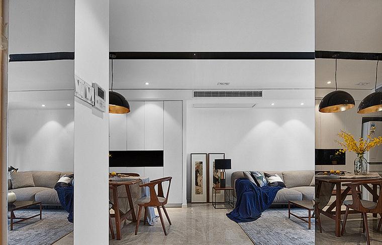 现代简约三居室过道图片