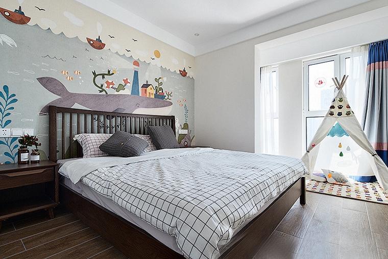 现代简约三居室儿童房效果图