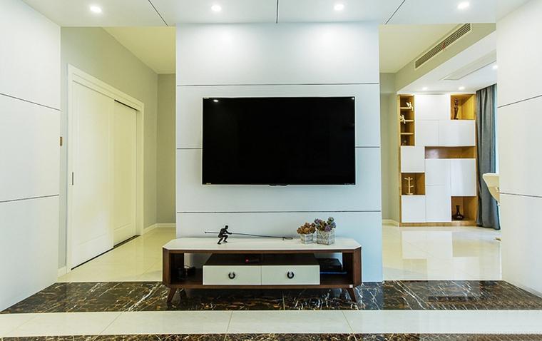 现代简约风格公寓装修电视背景墙