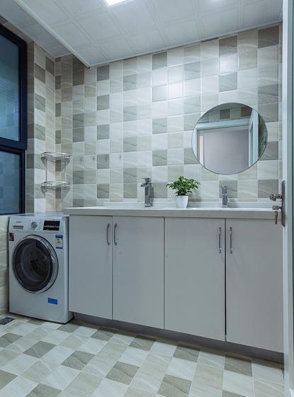 现代简约风格公寓装修洗衣房图片