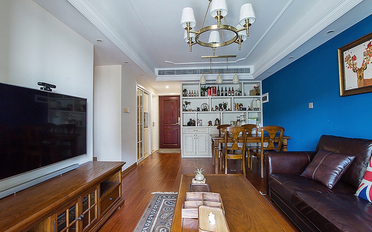 美式装修风格客厅吊灯图片