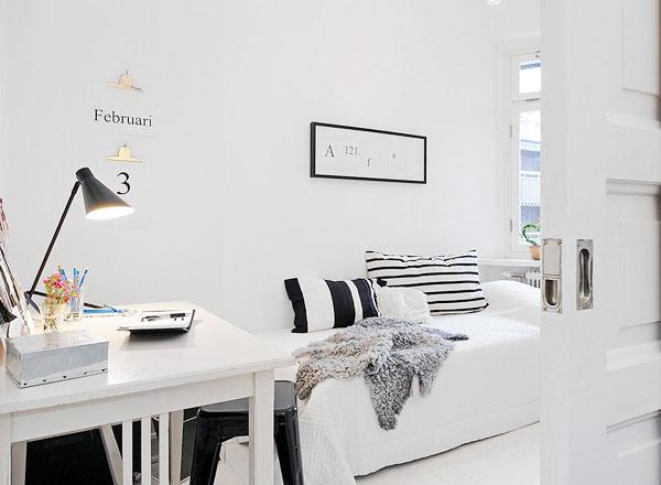 北欧风格卧室设计平面图