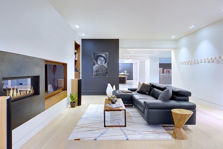 现代简约风格客厅装修平面图
