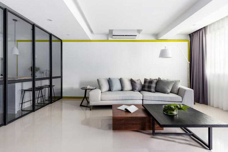 现代简约风格客厅摆放图