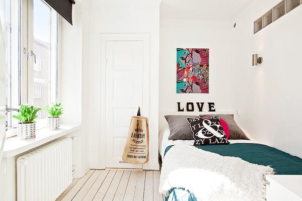 北欧风卧室布置图片